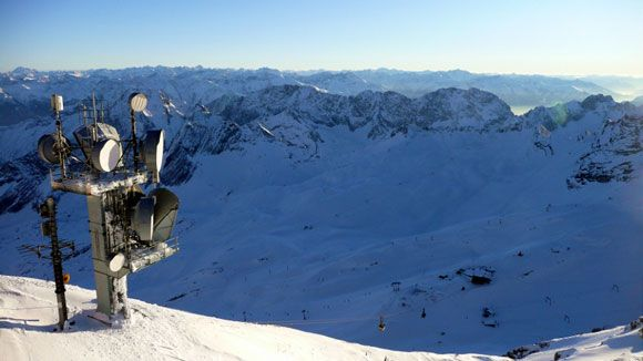 Гора Цугшпитце - вид на юг - Австрию и Италию