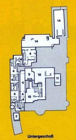 Схема помещений Немецкого Музея - Untergeschoß – нижний (подвальный) этаж