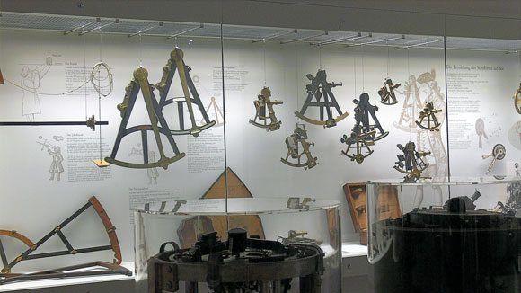 Немецкий Музей - инструменты корабельного штурмана