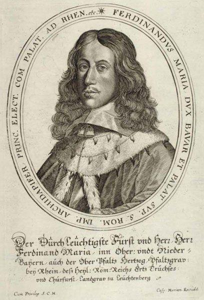 Краткая история дворца Нимфенбург - Молодой Фердинанд Мария, курфюрст Баварии