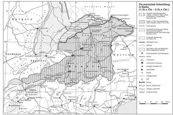 История Аугсбурга. Провинция Реция