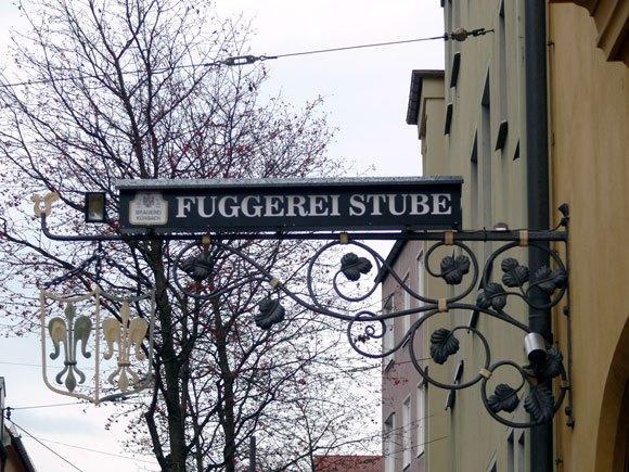 Указатель на главном входе в поселок Фуггерай со стороны Jakoberstraße