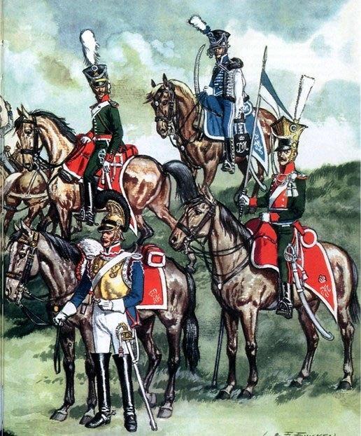 Баварская кавалерия.