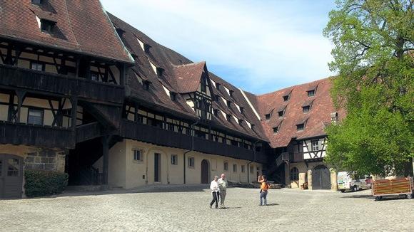Экскурсия в Бамберг. Внутренний двор Старого придворного штата.