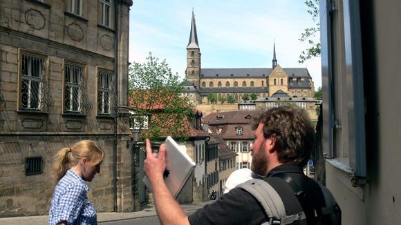 Экскурсия в Бамберг. На улице Михаэльсбергштрассе.