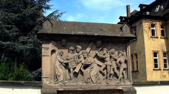 Экскурсия в Бамберг. Памятный знак на перекрестке Михаэльсбергштрассе и Ауфзерштрассе.