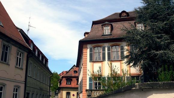 Экскурсия в Бамберг. Типичные крыши Бамберга.