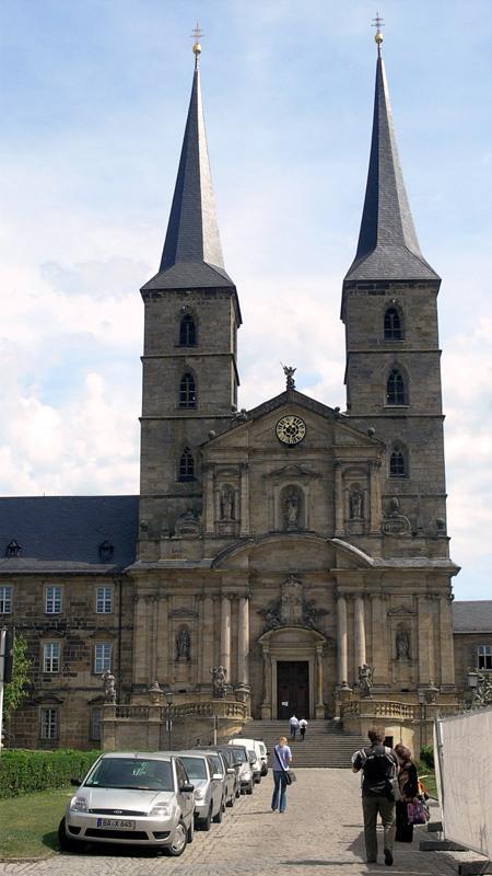 Экскурсия в Бамберг. Фасад церкви Св. Михаэля.