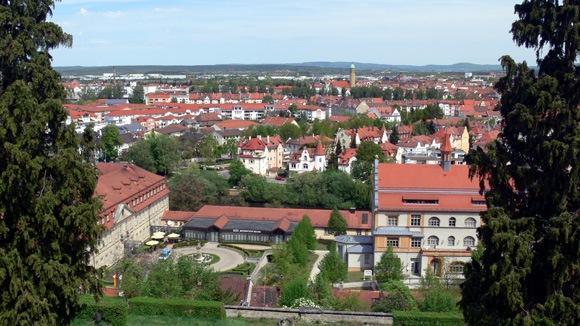 Экскурсия в Бамберг. Вид города с террасы монастыря Св. Михаэля.