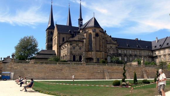 Экскурсия в Бамберг. Отдых на террасе монастыря Св. Михаэля.