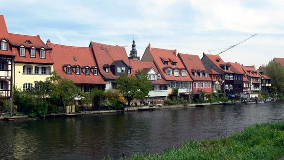 Экскурсия в Бамберг. Старые рыбацкие дома на берегу реки Регнитц – «Маленькая Венеция».