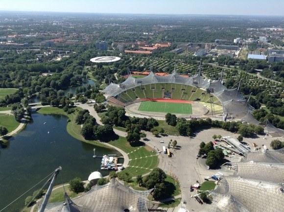 Олимпийская башня Мюнхена. Перед нами юго-западное направление.