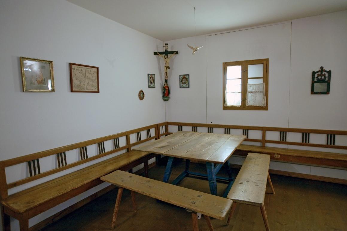 Дахау, Бавария. Bezirksmuseum. Красный угол баварского крестьянского дома.