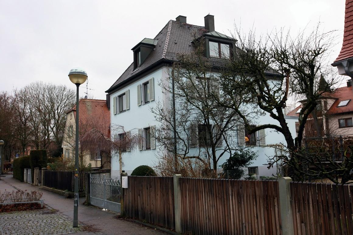 Дахау, Бавария. Дома на Langhammer-Straße.