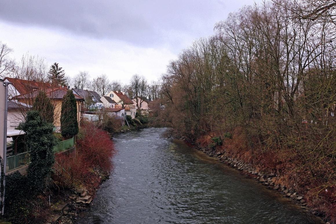Дахау, Бавария. Река Amper.