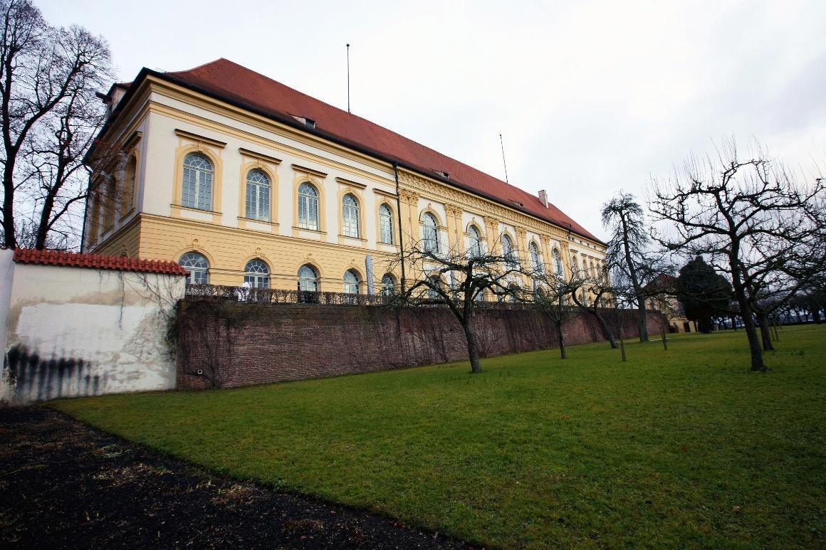 Дахау, Бавария. Сохранившееся крыло дворца Дахау.