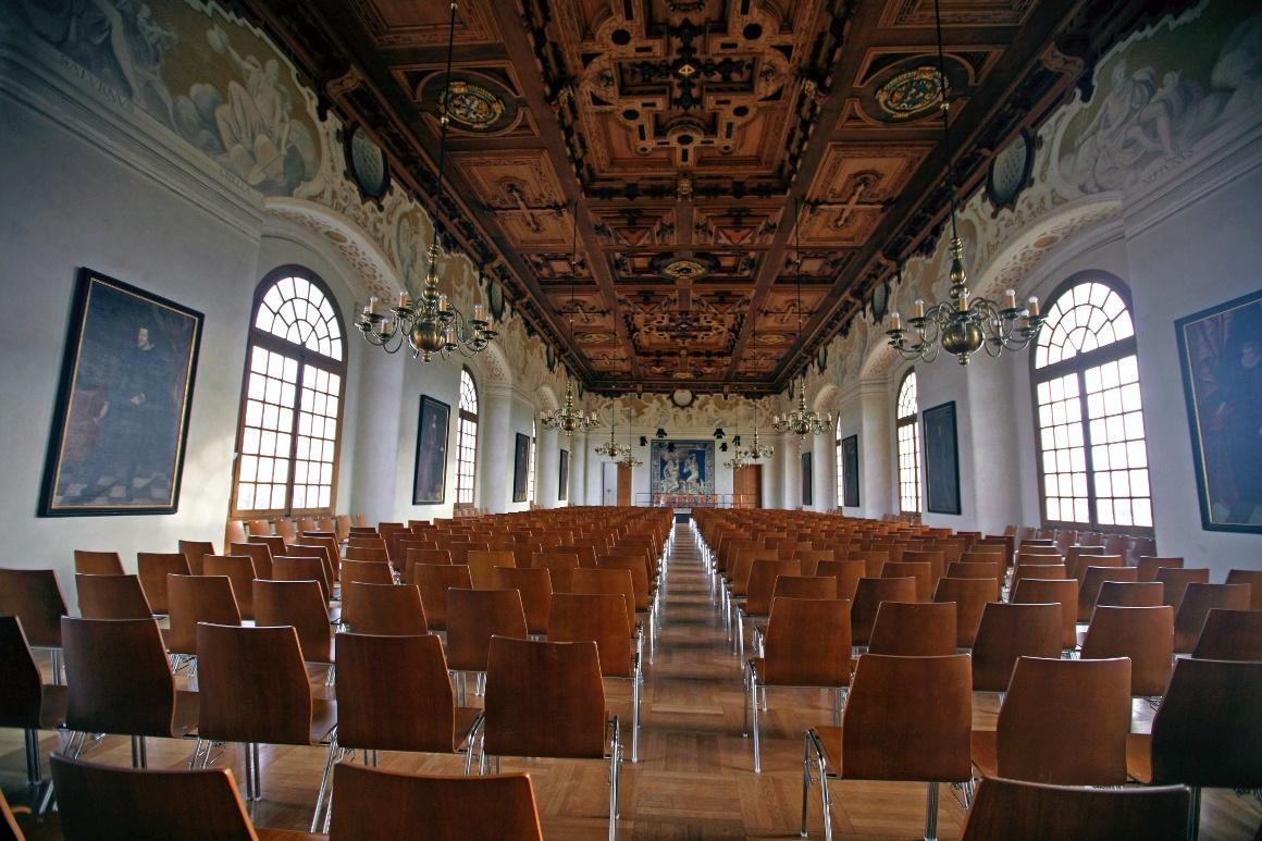 Дахау, Бавария. Большой зал на втором этаже дворца.