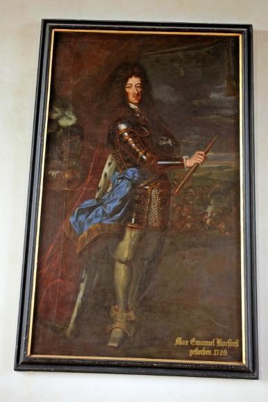 Дахау, Бавария. Портрет курфюрста Максимилиана Эмануэля, в правление которого была проведена перестройка дворца в стиле барокко.