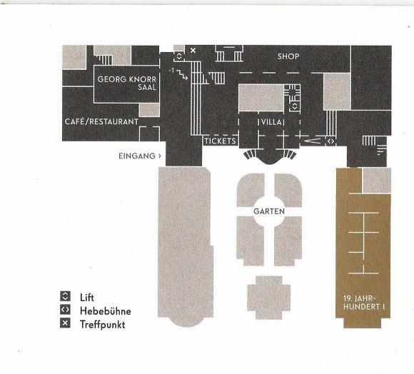 Ленбаххаус. Нулевой этаж здания.