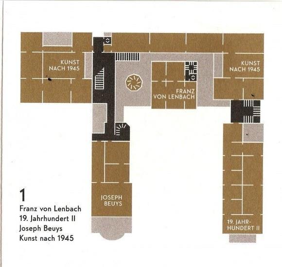 Ленбаххаус. Первый этаж.