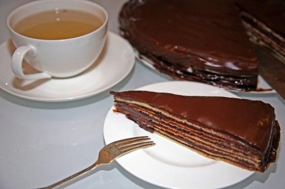 Торт Принц-регент (Prinzregententort). Кусочек торта к чаю.