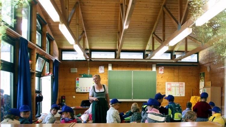 Школы Баварии. Классная комната.