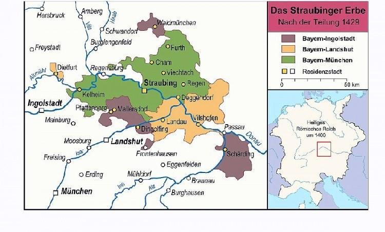 Штраубингское наследство, раздел 1429 года