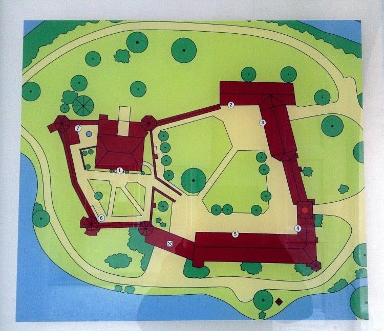 План замка Блютенбург