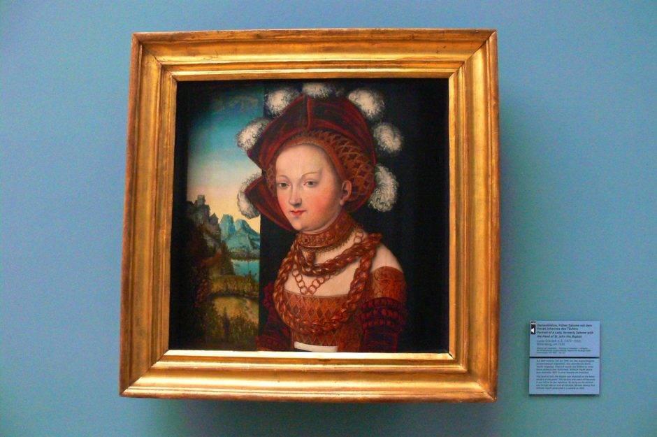 «Портрет дамы». Лукас Кранах-старший, 1530.