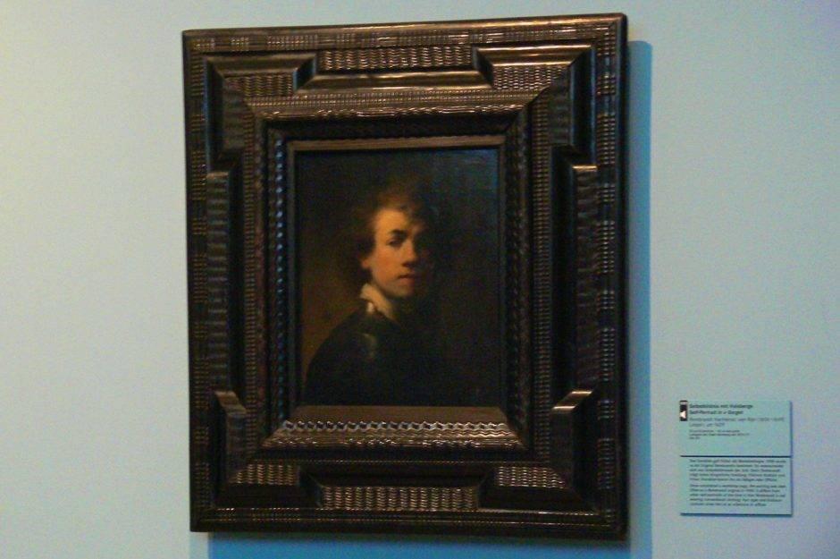 «Автопортрет с шейным платком». Рембрандт ван Рейн, 1629.