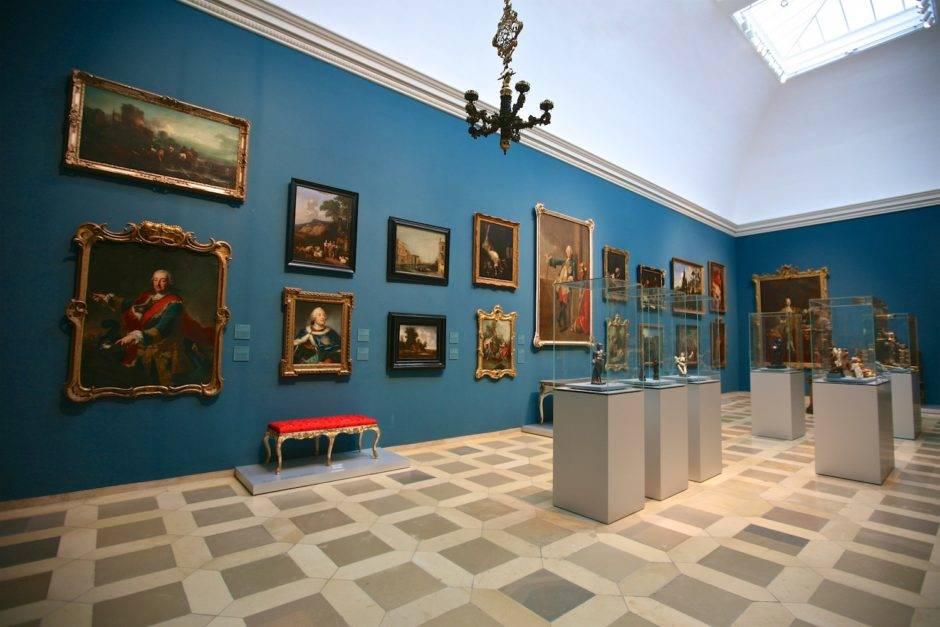В зале раздела барокко, эпоха просвещения.