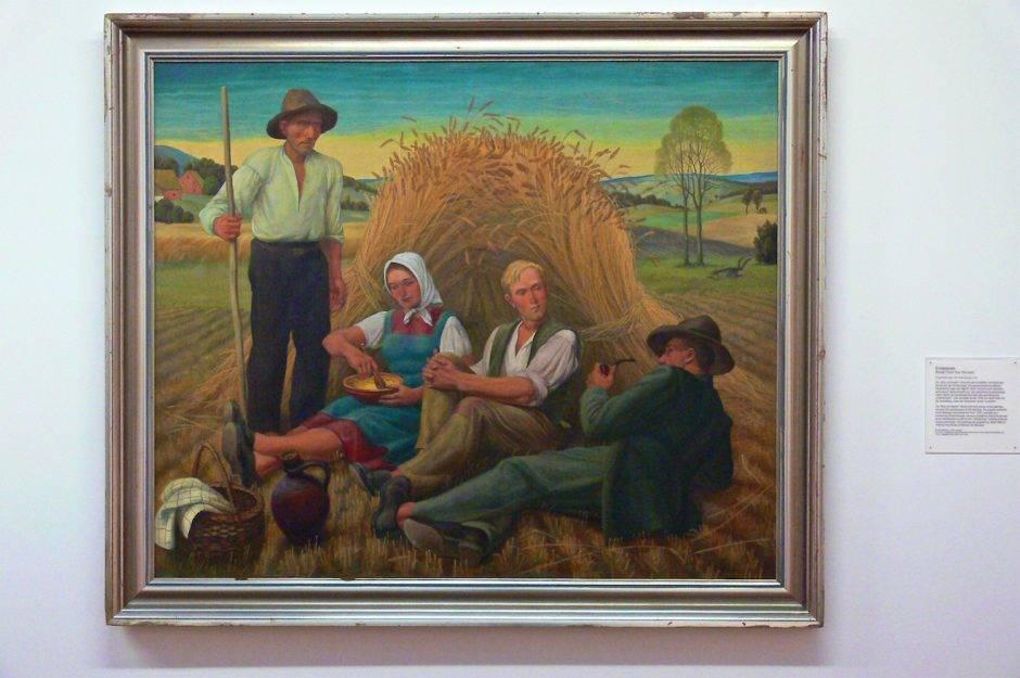 «Перерыв на уборке урожая». Георг Гюнтер, 1938.